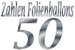 Folienballons Zahl 50