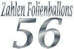 Folienballons Zahl 56