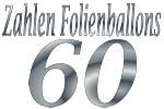 Folienballons Zahl 60