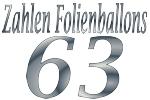 Folienballons Zahl 63