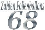 Folienballons Zahl 68