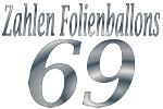 Folienballons Zahl 69