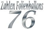 Folienballons Zahl 76