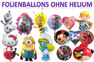 Folienballons ohne Ballongas-Helium (ungefüllt)