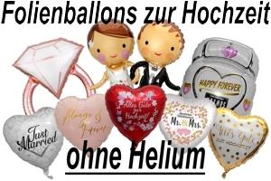 Luftballons aus Folie zur Hochzeit ohne Helium