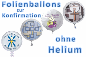 Folienballons zur Konfirmation ohne Helium