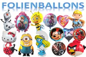 Folienballons die extra für Helium hergestellt sind