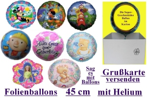Folienballons 43cm - 50cm/ Motive
