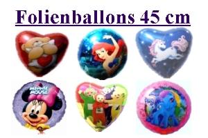 Folienballons 45cm (ungefüllt)