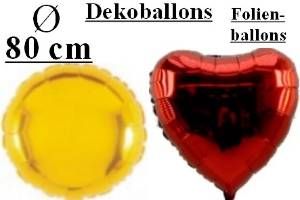 Folienballons 80 cm & 90 cm