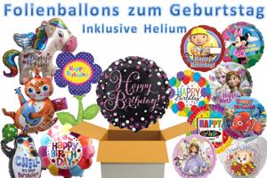 Folienballons Geburtstag mit Helium, Glückwünsche, Dekoration