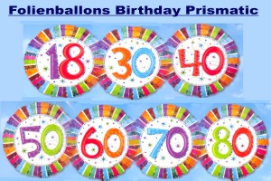 Folienballons Geburtstag, Birthday Prismatic