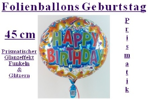 "Folienballons ""Geburtstag"" Prismatik"