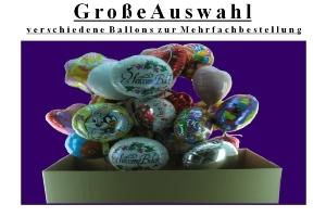 """Folienballons """"Große Auswahl"""""""