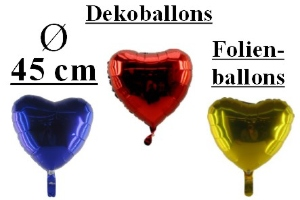 Folienballons Herzen 45 cm