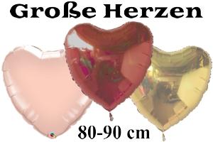 Folienballons Herzen 80-90 cm