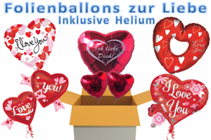 "Folienballons ""I Love You"""