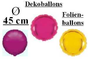 Folienballons Rund 45 cm