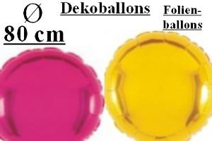 Folienballons Rund 80 cm & 90 cm
