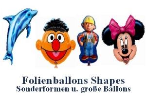 Folienballons Shapes (ungefüllt)
