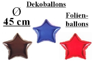 Folienballons Sterne 45 cm