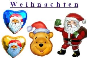 Weihnachtsballons, Nikolausballons, Luftballons zu Weihnachten und Nikolaus mit Helium