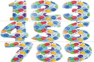 Folienballons Zahlen Balloons Streamers