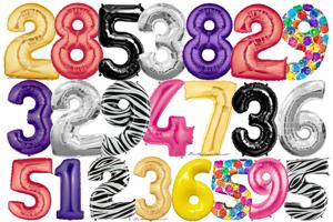 Folienballons Zahlen (heliumgefüllt)