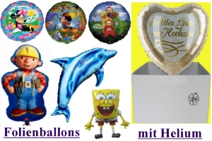 Folienballons (heliumgefüllt)