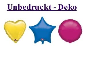 Folienballons, unbedruckt (ungefüllt)