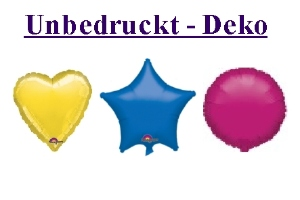 Folienballons Sterne, Herzen, Rundballons, ohne Helium