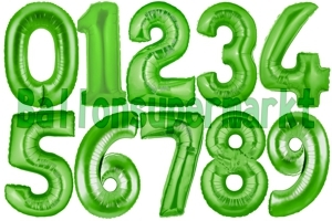 Luftballons große Zahlen, 100 cm, Grün
