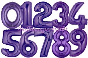Große Zahlen-Luftballons Lila