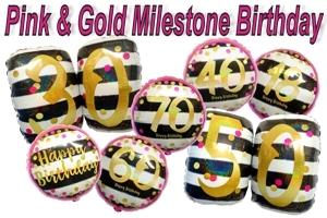 Folienballons Milestone (ohne Helium)