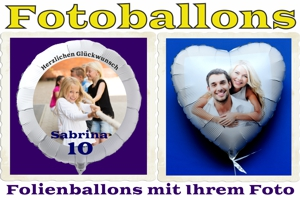 Luftballons aus Folie - Fotoballons mit Helium
