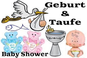 geburt, taufe, babyparty dekoration