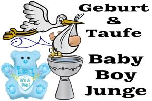 Geburt und Taufe, Baby Boy, Junge