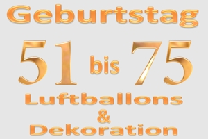 Geburtstage 51 - 75