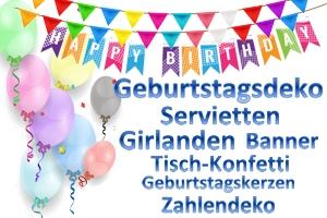 Geburtstag, Dekoration zum Geburtstag