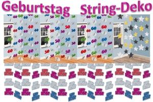 String Dekoration Geburtstag