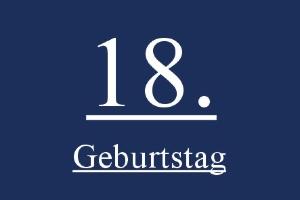 Geburtstagsdekoration, Dekoration und Luftballons zum 18. Geburtstag