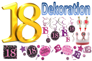 Geburtstag 18. Dekoration