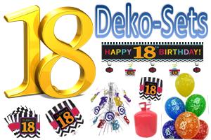 Geburtstag 18 Geburtstagsdeko-Sets