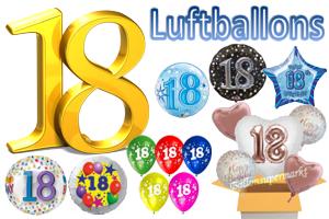 Geburtstag 18 Luftballons