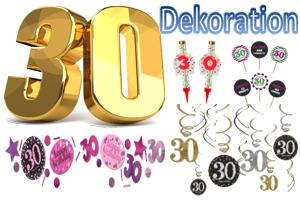 Geburtstag 30. Dekoration