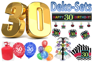 Geburtstag 30 Geburtstagsdeko-Sets