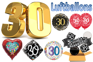 Geburtstag 30 Luftballons