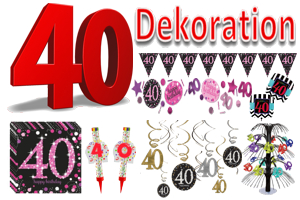 ballonsupermarkt geburtstag 40 dekoration. Black Bedroom Furniture Sets. Home Design Ideas