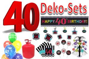 Geburtstag 40 Geburtstagsdeko-Sets