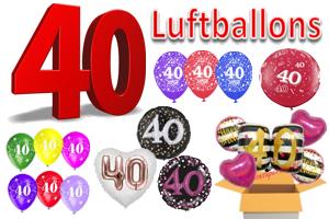 Geburtstag 40 Luftballons
